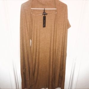 WILLI SMITH Brown Duster Cardigan with Pockets 3X